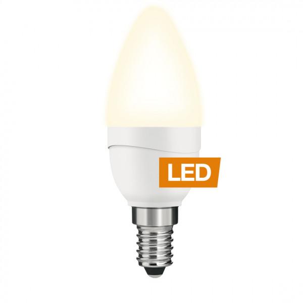 Lampada LED LEDON: Candela, B35, 5W, E14, non-dimmerabile