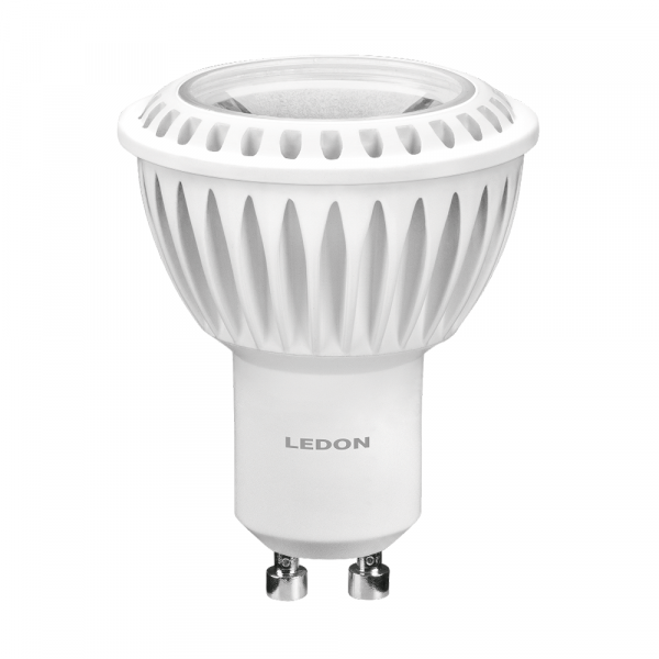 LEDON Lampada a LED: Spot, GU10, 7W