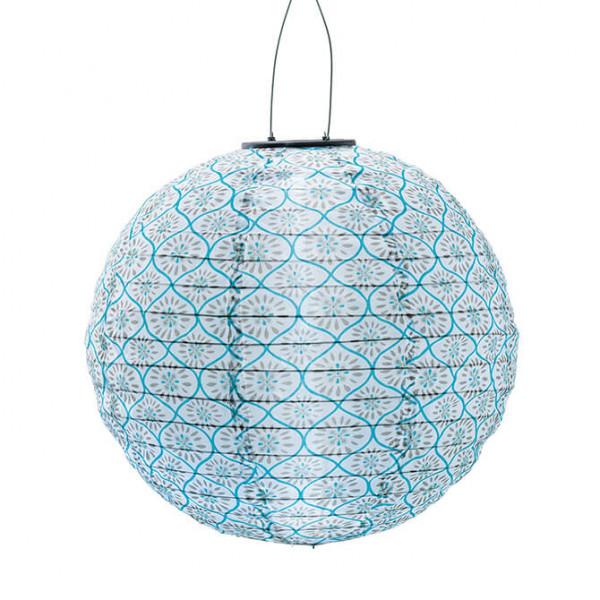 Lampione a energia solare, blu (in e outdoor)