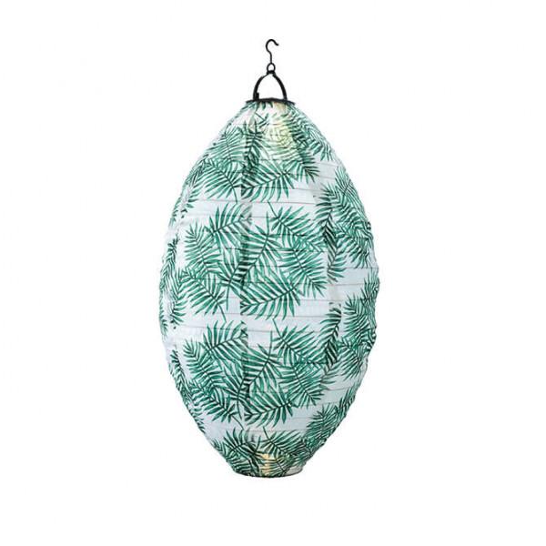 Lampione a goccia a energia solare, a ramo di palma (in e outdoor)