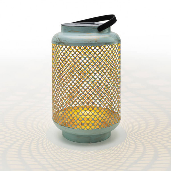 Lanterna in stile vintage a batteria, blu grande (in e outdoor)
