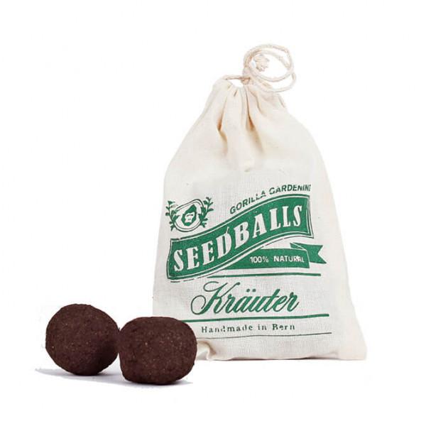 Bombe di semi di piante aromatiche in sacchetto di cotone