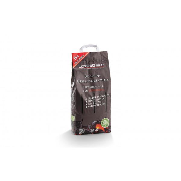 Carbone LotusGrill 2,5 kg sacco di faggio
