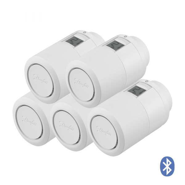 Termostato per radiatore Danfoss Eco HOME Bluetooth, set da 5