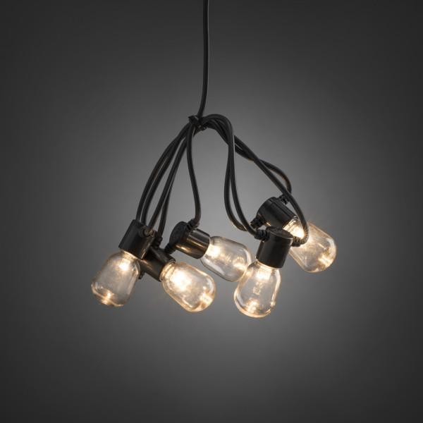 Catena luminosa a LED da giardino, trasparente