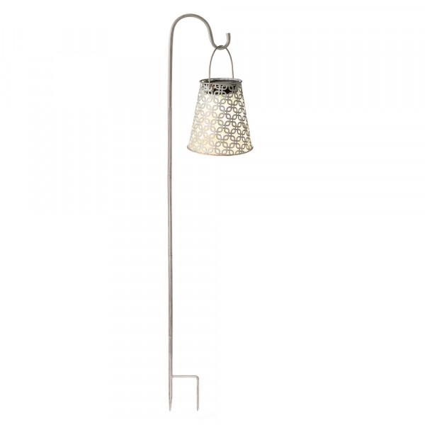 Lanterna solare Antica, biancaincl. bastone da giardino