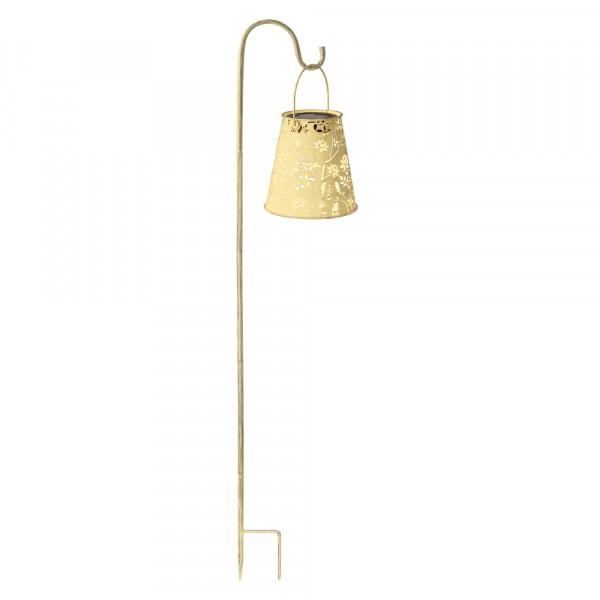 Lanterna solare antica, primavera incl. bastone da giardino