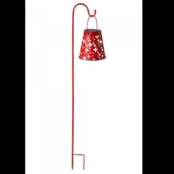 Lanterna solare Svizzera incl. bastone da giardino